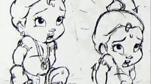 cartoon baby krishna drawing by cartoon drawings step by step