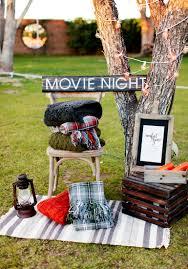diy backyard movie night right home