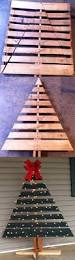diy christmas tree for your front porch out of a pallet you could