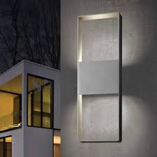 Outdoor Wall Sconce Up Down Lighting Light Frames 21 Inch Up Down Outdoor Led Wall Sconce By Sonneman