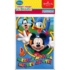 mickey mouse invitation card kit 16 count target