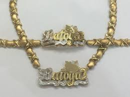 double plated necklace images Personalized 14k 3d gold plate double plated any name or character jpg