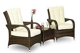 ultra stylish arizona rattan 2 seat arm chair set small glass