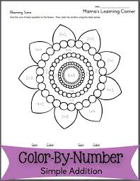 blooming sums u2013 color by number addition color by numbers free