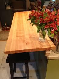 hand made maple butcher block breakfast bar by elias custom custom made maple butcher block breakfast bar