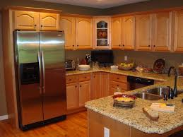 kitchen paint colors oak cabinets with island design combination