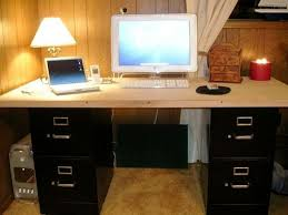 Computer Desk With Filing Cabinet by Best 25 Homemade Desk Ideas On Pinterest Homemade Home Office