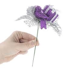 purple gift and ornament floral picks picks and stems