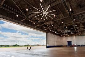 Ceiling Fan Hanger Bar by Airport Hangar Industrial Ceiling Fans From Big Fans