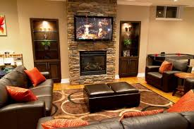 Rustic Family Room Designs - Family room entertainment