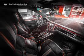 black porsche red interior porsche macan gets a berserk red and black interior makeover from
