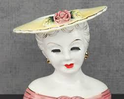 Vintage Lady Head Vases Vintage Artmark Vase Etsy