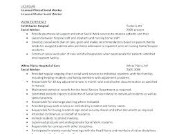 work resume exles clinical social worker resume clinical social worker resume social