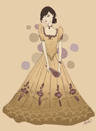 traditional costume clipart filipiniana pencil and in color