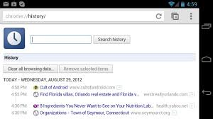 android history cult of android how to view browser history in chrome