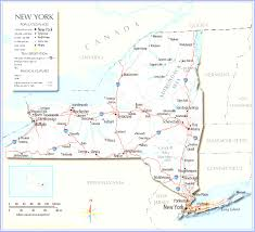 State Reference Map by List Of Cities In New York Inside State New York Map With