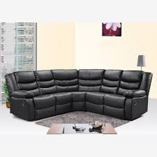 Corner Recliner Sofas Corner Recliner Sofa In Black Bonded Leather