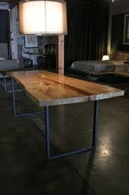 Wood Table With Metal Legs Live Edge Wood Desk Google Search Contemporary Furniture