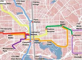 baltimore light rail map baltimore innerspace integrating light rail and streetcars