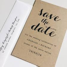 wedding save the date cards deposit kraft save the date cards typography save the date