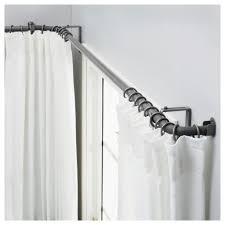 accessories curved window curtain rod in elegant window