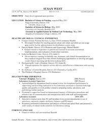 Resume For Nursing Position Cover Letter Nursing Resume Objectives Examples Nurse Educator
