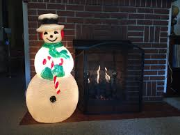 Blow Mold Christmas Yard Decorations Giant Snowman Blow Mold Ex Large Union By Veiledthroughtime Blow