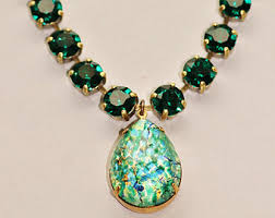 opal necklace vintage images Green opal necklace etsy jpg