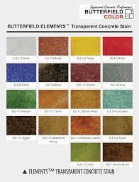 colored concrete colors butterfield elements transparent