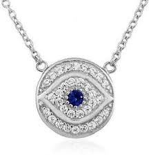 ebay necklace silver images Evil eye necklace ebay JPG