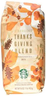 2017 starbucks thanksgiving blend whole bean coffee 1lb