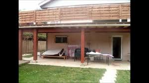 modele de terrasse couverte construction terrasse surelevée avec pose d une terrasse en bois