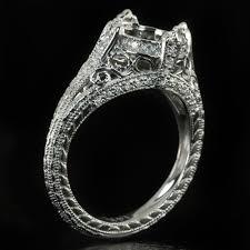 semi mount engagement rings vintage semi mount engagement ring 8mm setting