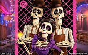 coco 2017 animation 4k wallpapers imelda and the twins skeletons in the land of the dead wallpaper