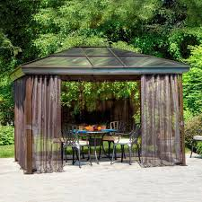 aluminum roof gazebo backyard roof fence u0026 futons great ideas