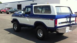 79 Ford Bronco Interior 1979 Ford Bronco 4x4 Restored Super Clean Custom Paint Youtube