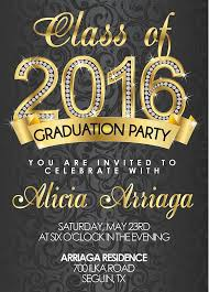 gold graduation invitations for college or high