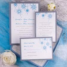snowflake wedding invitations blue flower wedding invitations ins166 ins166 0 00