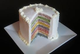 how to make naturally colored organic rainbow cake