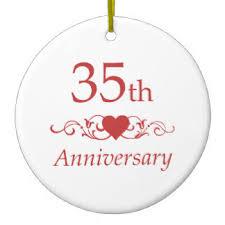 35 wedding anniversary 35th wedding anniversary ornaments keepsake ornaments zazzle