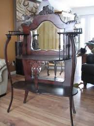 Etagere Antique Antique Art Nouveau Etagere Mahogany Shelf Unit Mirrored