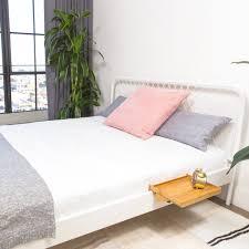bedshelfie a space saving minimalist nightstand bedside shelf