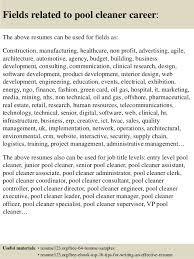 cleaner resume template top 8 pool cleaner resume sles