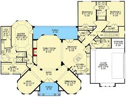 one story villa with private master suite 4187db architectural