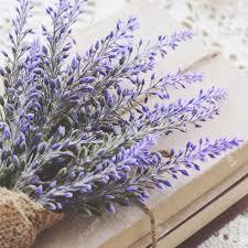 decoration with lavender bunch upon vintage books bundle square