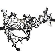 masquerade mask metal mask metal filigree laser cut masquerade mask diamante half