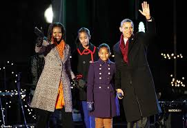 Obama First Family by Obama The Christmas Crooner Barack Sings With Santa And Michelle