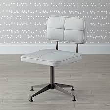 grey tufted desk chair the land of nod