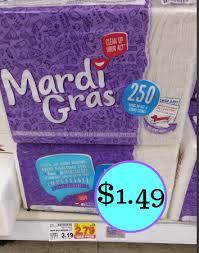 mardi gras napkins mardi gras napkins 250 count only 1 49 at kroger