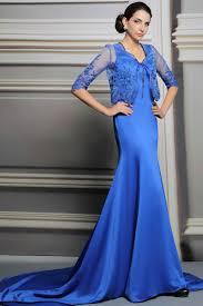 silky satin slinky royal blue prom dresses with jacket silky satin